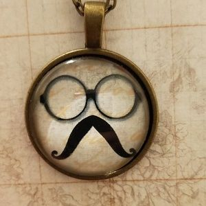 ♡ 2/$7 or 4/$10♡ Steampunk Mustache Necklace